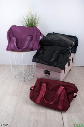 Мужская фиолетовая спортивная сумка