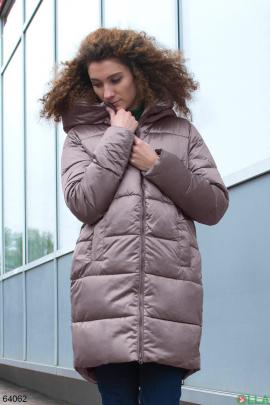 Женская зимняя куртка бронзового цвета