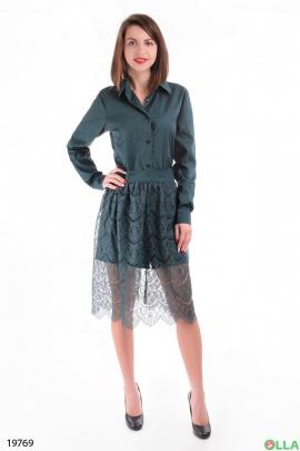 Платье- рубашка с юбкой