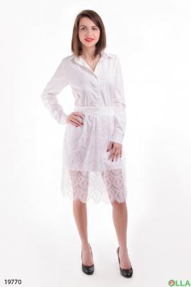 Платье-рубашка с юбкой