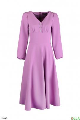 Женское платье фиолетового цвета