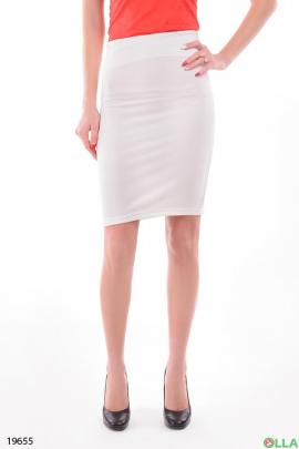 Женская юбка белого цвета