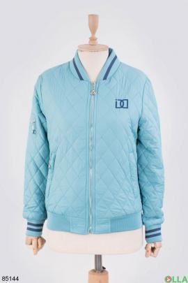 Женская голубая куртка с синими вставками