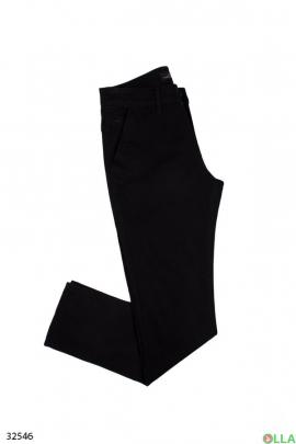 Мужские однотонные брюки