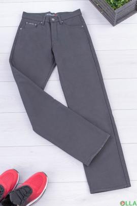 Мужские темно-серые брюки