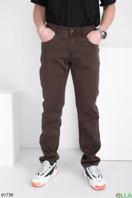 Мужские коричневые джинсы