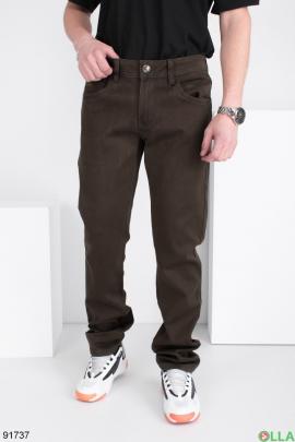 Мужские джинсы цвета хаки