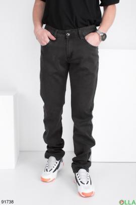 Мужские темно-серые джинсы