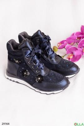 Ботинки с декором из пайеток