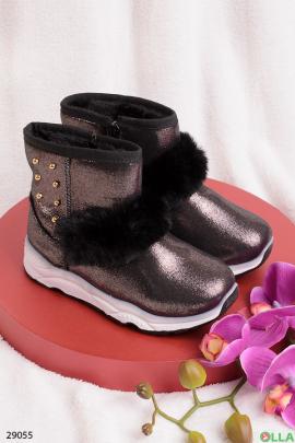 Ботинки  бронзового цвета