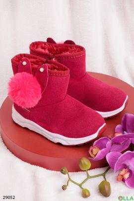 Ботинки  с помпоном