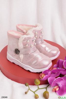 Ботинки белого цвета напылением