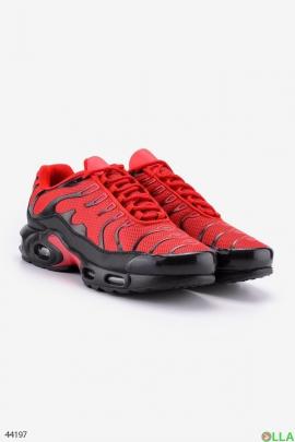 Мужские красно-черные кроссовки