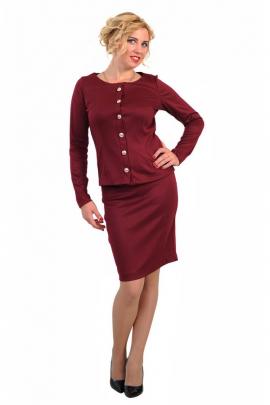Женский бордовый костюм