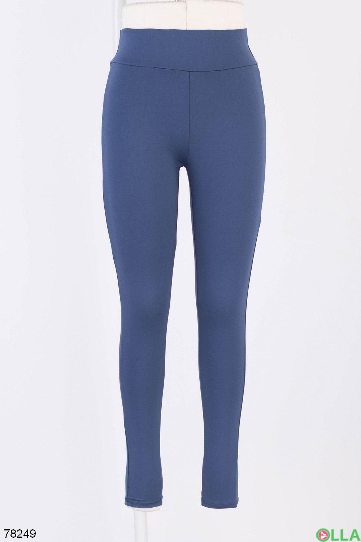 Женские синие спортивные лосины
